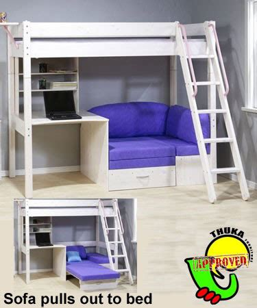 loft bed with desk and couch sofa beds thuka maxi white pine desk sofa bed