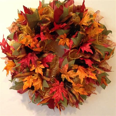 fall deco mesh wreath fall wreath autumn wreath welcome