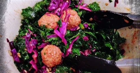 Detox Turkey by Turkey Meatballs With Kale Cabbage Slaw From The 10 Day