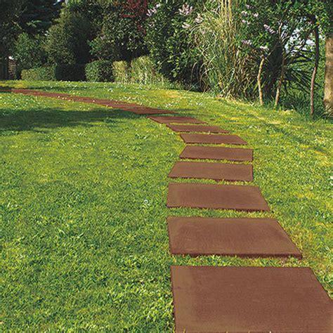 piastrellare giardino pavimentazione giardino corten il sistema di piastrelle paso