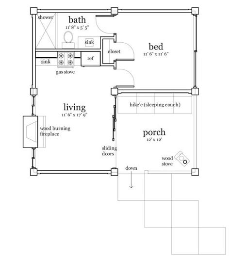 200 square foot house plans country style house plans 456 square foot home 1 story