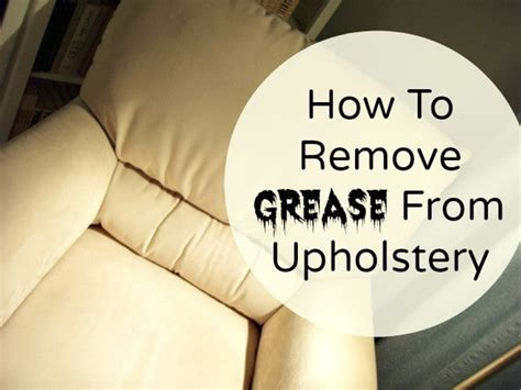 Remove Grease From Upholstery by Kitchen Grease Not For Your Loveseat Home Ec 101