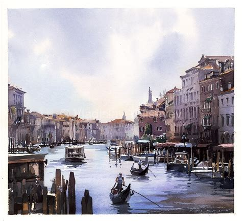 Home Painting Interior venice view from the bridge vladislav yeliseyev