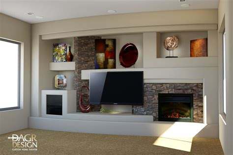 media wall ideas custom drywall entertainment centers 3d design rendering