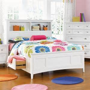White Twin Storage Bed With Bookcase Headboard Kenley Twin Storage Bookcase Headboard Kids Beds