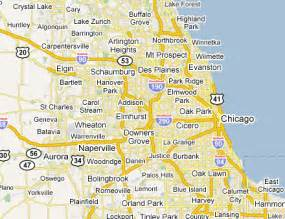 Chicago Metro Area Map by Chicago Metro Area Web Design Amp Development Firms On The