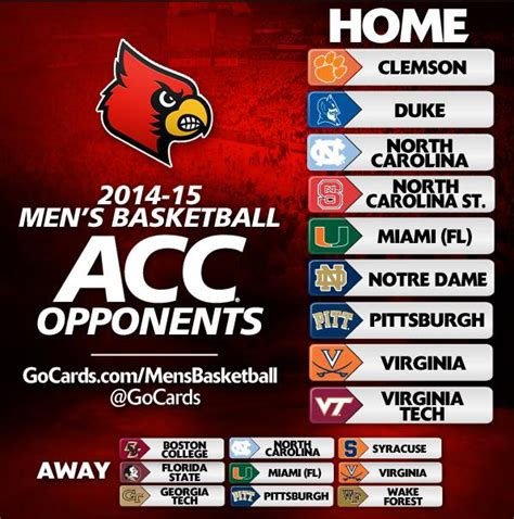 Notre Dame Mba Class Schedule by Future Acc Basketball Schedules 2014 15 2015 16 The
