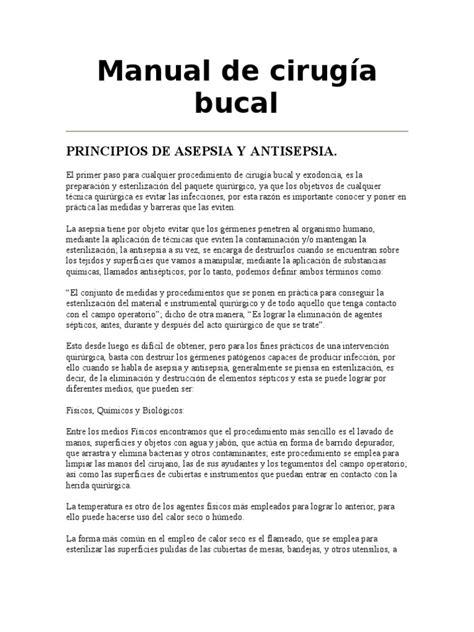 manual soat liquidacion de cirugias manual de cirug 237 a bucal