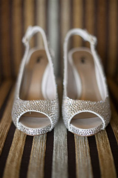 Glitter Bridal Shoes by Silver Glitter Bridal Shoes