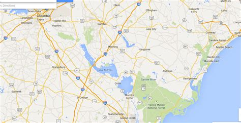 map of carolina rivers and creeks summerton s c rivers near summerton s c that