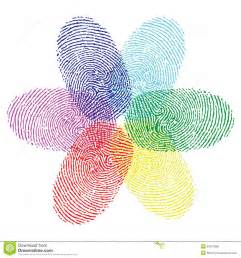 finger color color fingerprint flower stock vector image of forensic