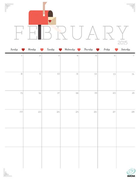 free printable cute planner 2015 6 best images of cute printable calendar february 2015