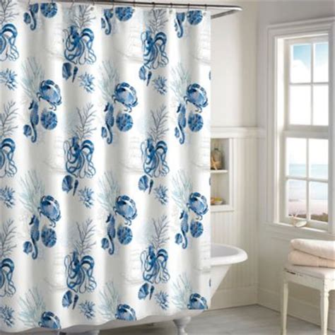 Seashell Shower Curtain Bathroom Set Buy Seashell Shower Curtains From Bed Bath Beyond