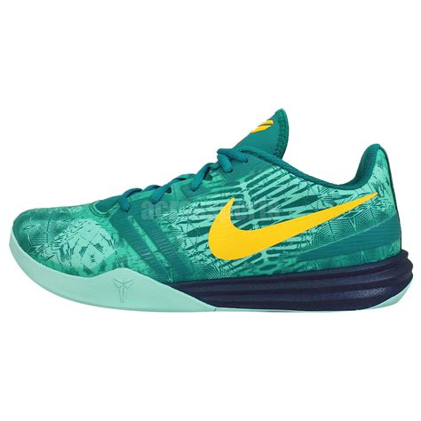 green yellow basketball shoes nike kb mentality bryant teal green yellow mens