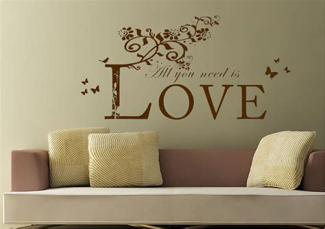 all wall stickers all you need is white text quotes wall stickers adhesive wall sticker