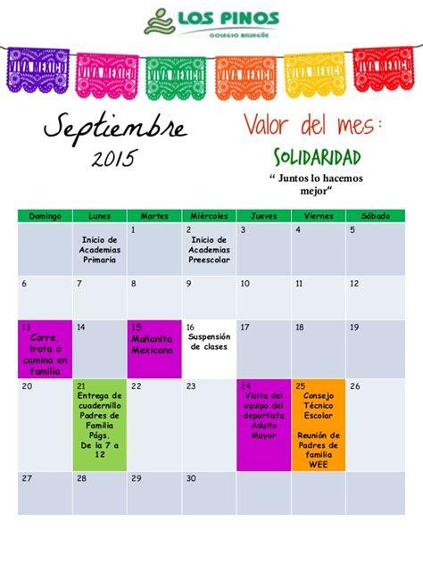 Calendario De Septiembre 2015 Calendario Septiembre 2015
