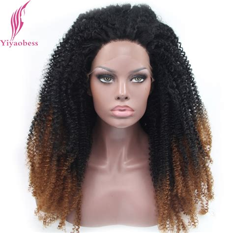 kinky curly hair partials yiyaobess kinky curly black brown grey blonde ombre lace