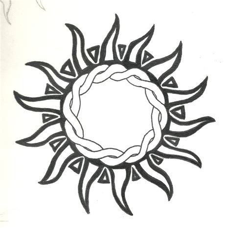 tribal sun tattoo by highlanderphill on deviantart