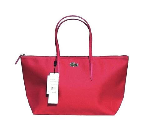 Dijamin Lacoste Tote Gold top zip tote lacoste bags design for womenitems