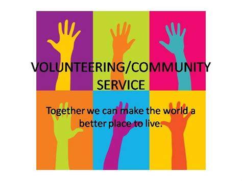 Volunteering Authorstream Community Service Powerpoint Template