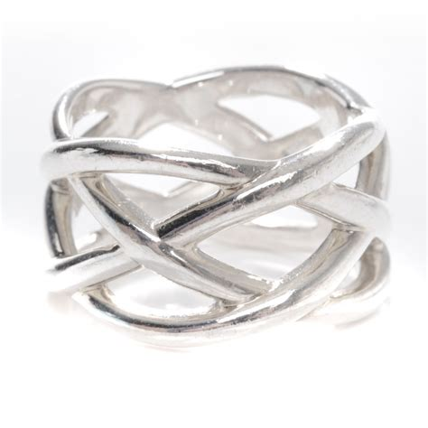 co sterling silver weave ring 6 5 46308