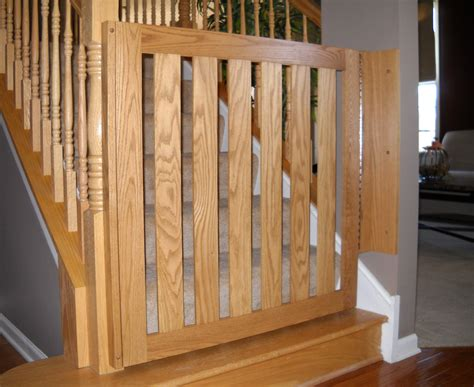 Stair Gates For Banisters White Oak Banister Baby Gate Baby Safety Gates Child