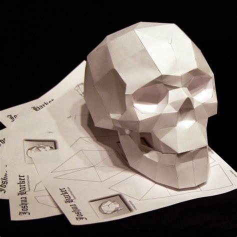Paper Craft Skull - paperskull skull skullsforchange sculpture studio