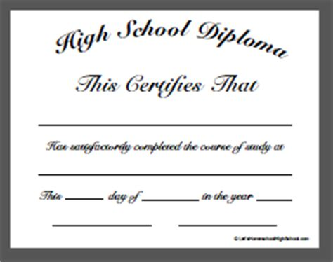 High School Diploma Template Cyberuse Maryland High School Diploma Template