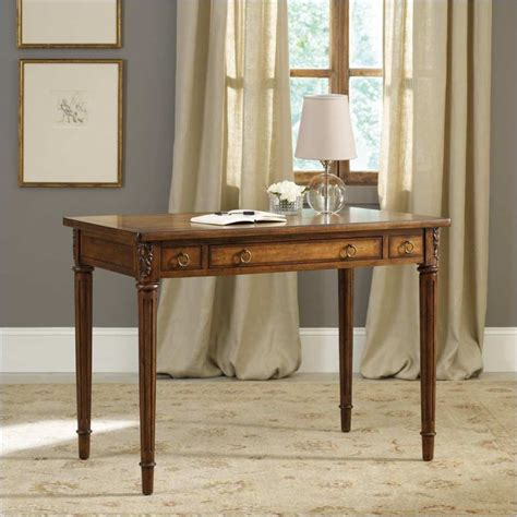 42 Inch Writing Desk In Medium Brown
