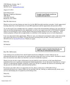 Sle Letter To Recruiter letters to recruiters for thank you letter to recruiter