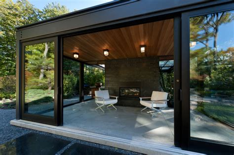 Glass Block Designs For Bathrooms by Glass House In The Garden Modern Patio Boston By