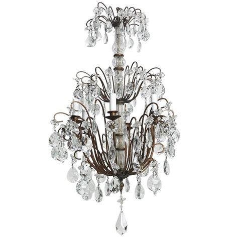 Chandelier Metal Frame Italian Three Tier Chandelier With Metal Frame For Sale At 1stdibs