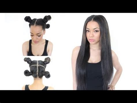 yay 2 part vixen weave install my first time doing vixen sew in weave braiding tutorial follow me on