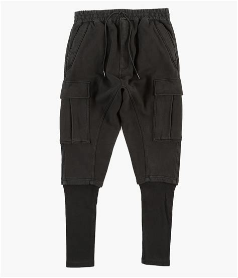 Cargo Pant Black 1 nlst ribbed cargo in black lyst