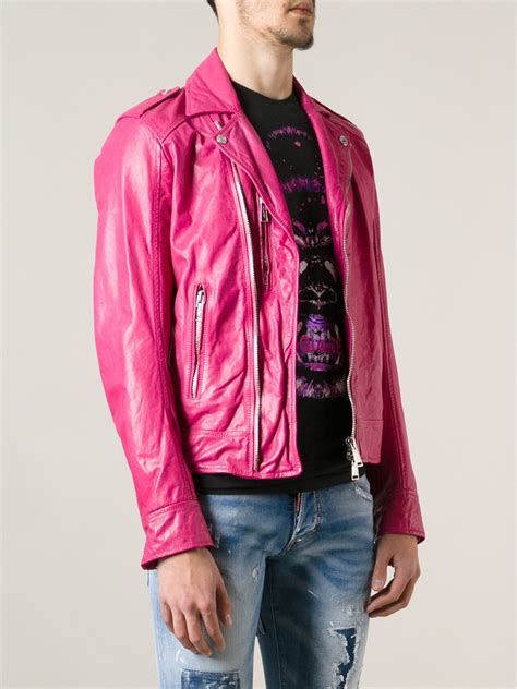 pink leather motorcycle jacket mens pink leather jacket jackets review