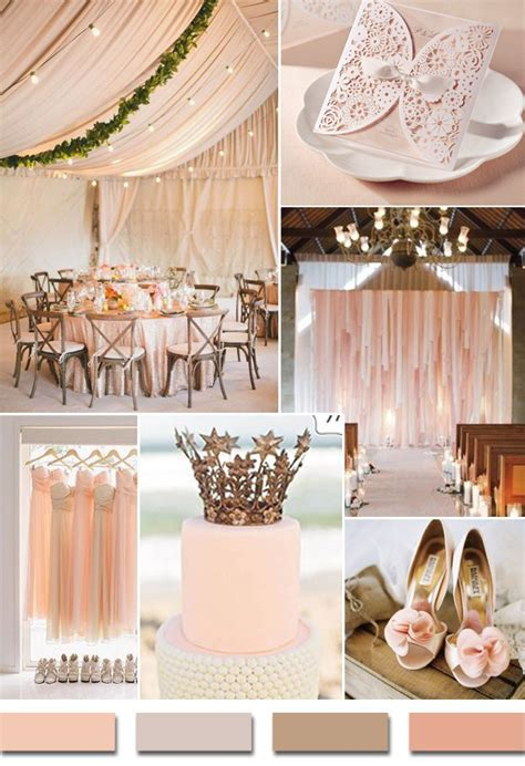 colour themes for a wedding affordable romantic laser cut blush pink lace wedding