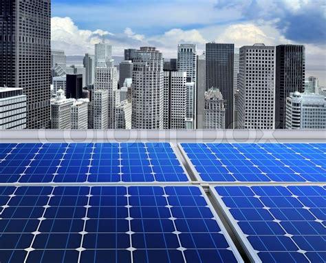 modern solar panels price solar panels on the roof of modern skyscraper stock photo colourbox