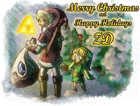 zelda wallpaper christmas merry christmas and happy holidays zelda dungeon by