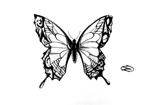 butterfly tattoo design by odrozz on deviantart