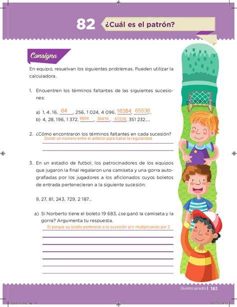 respuestas del libro de 6 en matematicas bloque 4 191 c 250 al es el patr 243 n desaf 237 os matem 225 ticos 5to bloque 5