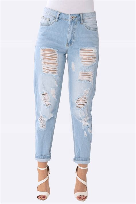 light ripped jeans womens light denim ripped jeans jean dev