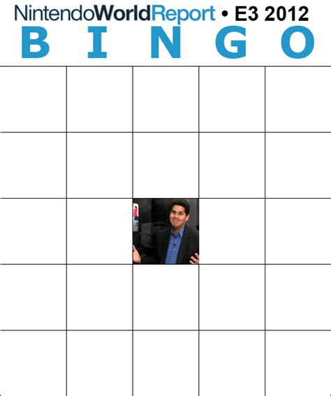 E3 Bingo Card Template by E3 Predictions 2012 Bingo Edition Feature Nintendo