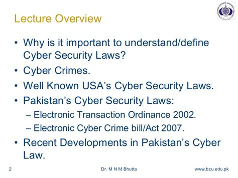 Cyber Security Notes For Mba by Cyber Security Laws