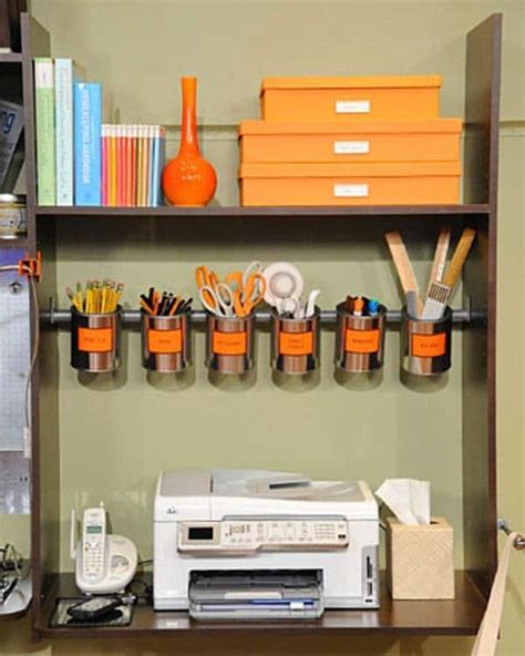 Organize Office Desk 15 Awesome Diy Ways To Organize Your Office Part 1