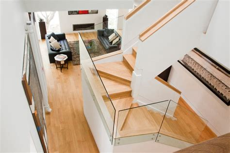 U Stairs Design Varma Residence Contemporary Staircase Dc Metro By Shinberg Levinas Architectural Design