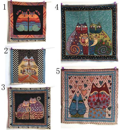 Patchwork And Craft - cat decorative pillow cotton linen fabric diy felt cloth