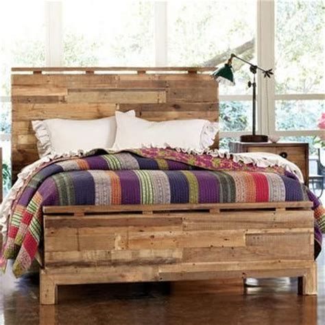 shipping pallet bed wood boards salvaged from rugged shipping pallets are