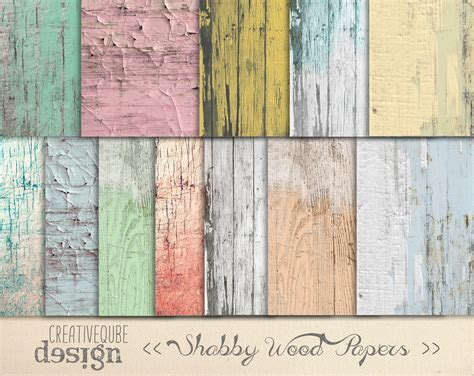 shabby chic wood digital paper patterns on creative market