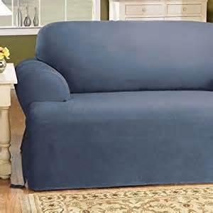 amazon com sure fit 139727269b bluestone cotton duck loveseat slipcover t cushion sofa