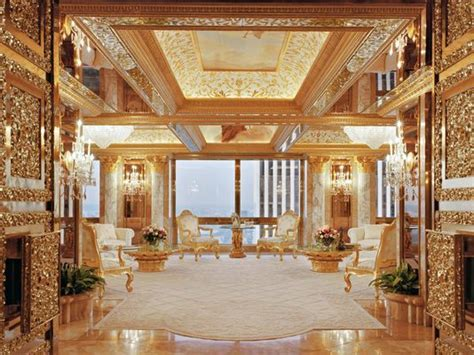 trumps home in trump tower will he go for the gold donald trump s redecorating plans